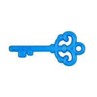 "Acrylic ""Love"" Key Pendant - Blue"