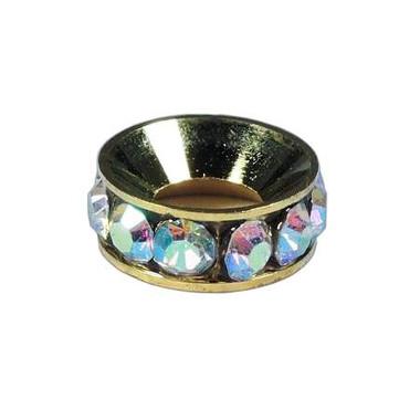 Diamond Brass Spacer with Rhinestone