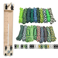 """Paracord Combo Crafting Kit with a 10"""" Pocket Pro Jig - Green Giant"""