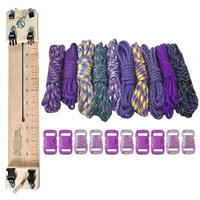"""Paracord Combo Crafting Kit with a 10"""" Pocket Pro Jig - Purple"""