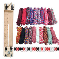 """Paracord Combo Crafting Kit with a 10"""" Pocket Pro Jig - Big Red"""