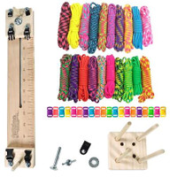 "Paracord Crafting Kit w/ 10"" Pocket Pro Jig & Monkey Form - Big Neon"