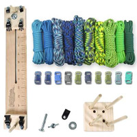 "Paracord Crafting Kit w/ 10"" Pocket Pro Jig & Monkey Form - Coastal"