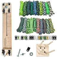 "Paracord Crafting Kit w/ 10"" Pocket Pro Jig & Monkey Form - Green Giant"