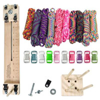 "Paracord Crafting Kit w/ 10"" Pocket Pro Jig & Monkey Form - Tie Dye"