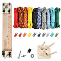 "Paracord Crafting Kit w/ 10"" Pocket Pro Jig & Monkey Form - Elements"