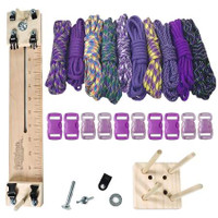 "Paracord Crafting Kit w/ 10"" Pocket Pro Jig & Monkey Form - Purple"