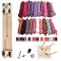 "Paracord Crafting Kit w/ 10"" Pocket Pro Jig & Monkey Form - Big Red"