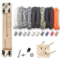 "Paracord Crafting Kit w/ 10"" Pocket Pro Jig & Monkey Form - Tactical"