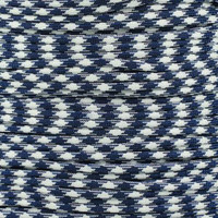 Navy White 550  7-Strand Commercial Grade Paracord
