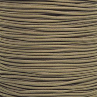 "Coyote Brown Bungee Shock Stretch Cord 1/8"" Diameter"