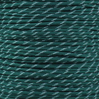Dark Green 550 Paracord with Glow in the Dark Tracers