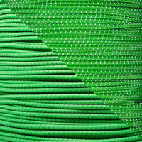 "Neon Green 1/8"" Shock Cord with Reflective Tracers"