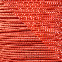 "Neon Orange 1/8"" Shock Cord with Reflective Tracers"