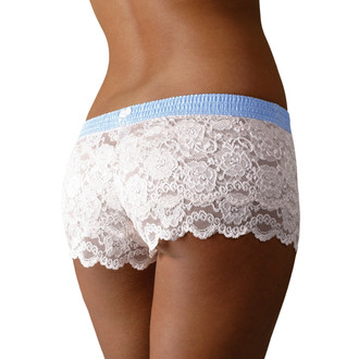 Ivory Lace Boxers with Light Blue Dot FOXERS Band