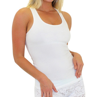 White Racer Back Bra Tank Top