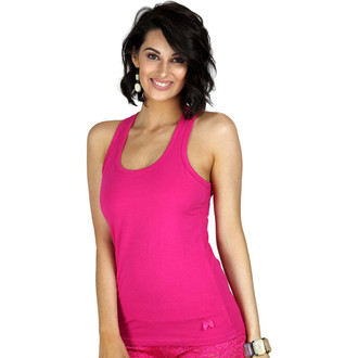 Womens Pink Racerback Tank Top