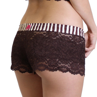 Brown Lace Boxer Short - womens