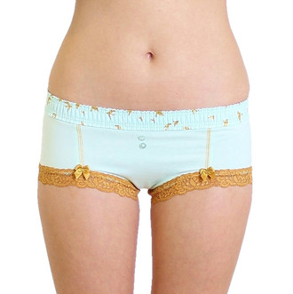 Mint Boyshort with Mint Dove FOXERS Band