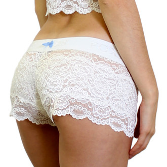 "Bridal Panties | White Lace & ""Something Blue"" Bow"