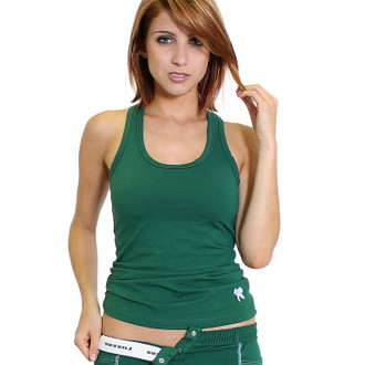 Forest Green FOXERS Racer Back Bra Tank Top