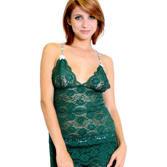 Hip Length Forest Green Lace Top