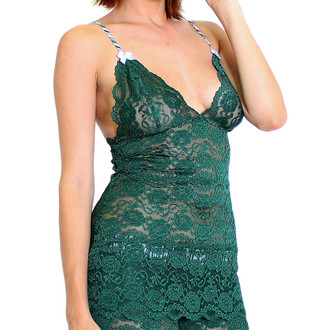 Forest Green Lace Top Hip Length Alpine Adjustable Straps