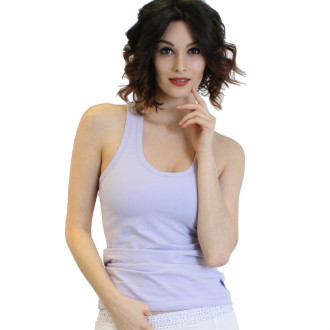 Lavender tank top with built in shelf bra