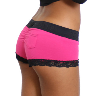 Fuchsia Boyshort with Black Logo FOXERS Band