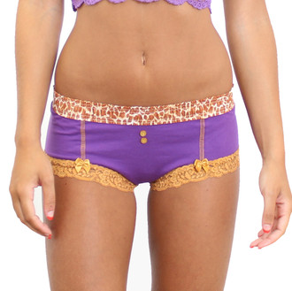 Grape Boyshort with Giraffe FOXERS Waistband