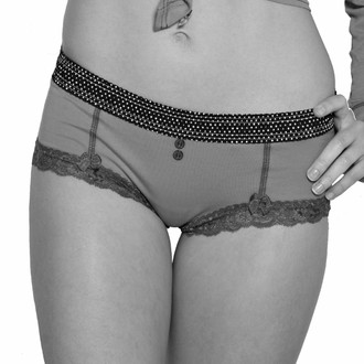 Example photo pf FOXERS boyshort in black and white