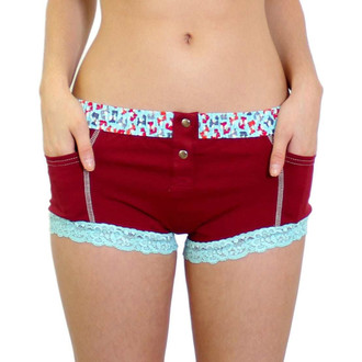 Cranberry Red Womens Boxer Briefs with Pockets