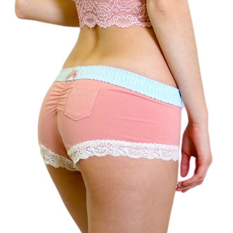 French Rose Boy Short Boxer Briefs
