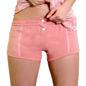 French Rose Tomboy Boxer Brief with Button opening