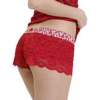 Red Lace Boxer shorts with Flower Power FOXERS Band