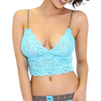 Light Turquoise Sexy Lace Top
