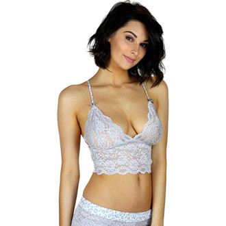 Silver Lace Cami with Adjustable Leopard Print Straps