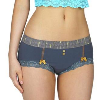 Women's Gray Boy Short Boxer Panties | FOXERS