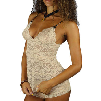 Sexy Nude Colored Lace Camisole Nighty