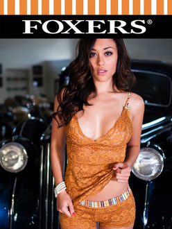 Classic Beauty Samantha Arena FOXERS Golden Lace 11X17 glossy poster