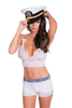 Nautical Look Lace Boxers Briefs and Lace Camisole