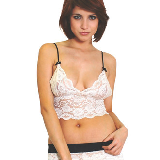 Blush Lace Top Black Adjustable Straps