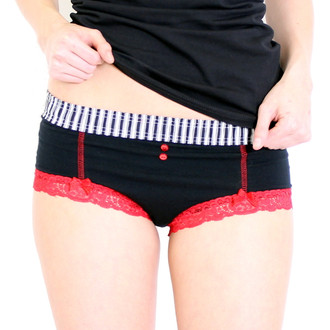 Black Boyshort Filmstrip FOXERS Band lipstick pocket