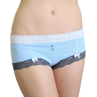 Light Blue Boyshort with Gray Accents