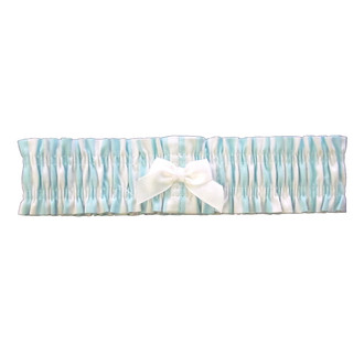 Garter - Tiffany Mint Blue white stripe (One Size)