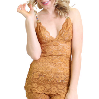 Sexy Hip Length Gold Nightie