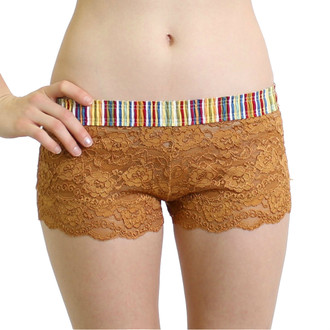 Cruise stripe over Golden Lace Boxers