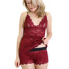 Sexy Hip Length Lace Nightie | Cranberry