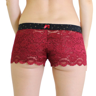 Cranberry Lace Boxer with Midnight Rose Waistband