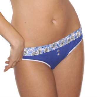 Royal Blue Thong Underwear with paisley waistband